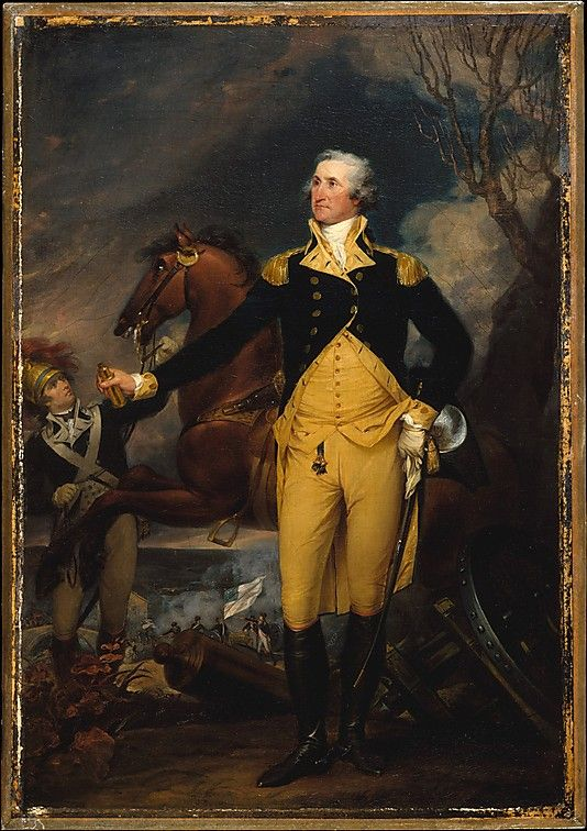 """George Washington Before the Battle of Trenton"" by John Trumbull (1792-1794) at the Metropolitan Museum of Art, New York"