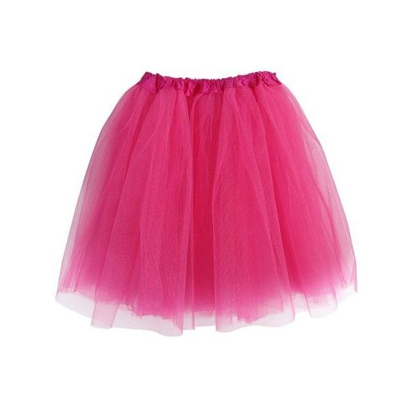 Hot Pink Adult Size 3-Layer Tulle Tutu Skirt Princess Halloween... ($13) ❤ liked on Polyvore featuring costumes, party costumes, pink halloween costumes, adult princess halloween costumes, adult halloween costumes and princess halloween costumes