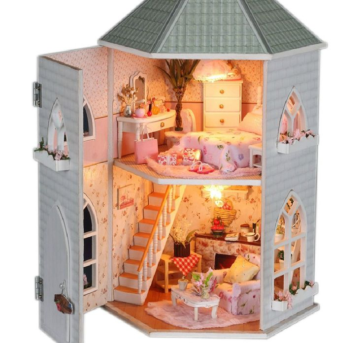 New Doll House Toy Miniature Wooden Doll House Loft With: 24 Best Images About ️Kids Tree Houses/Doll Houses ️ On