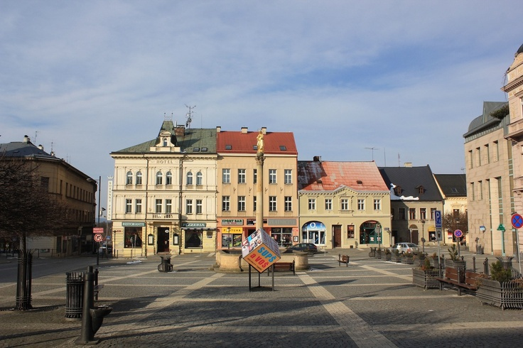 March 17, 2013. Passing through the town of Turnov in Czech Republic on our return to Prague