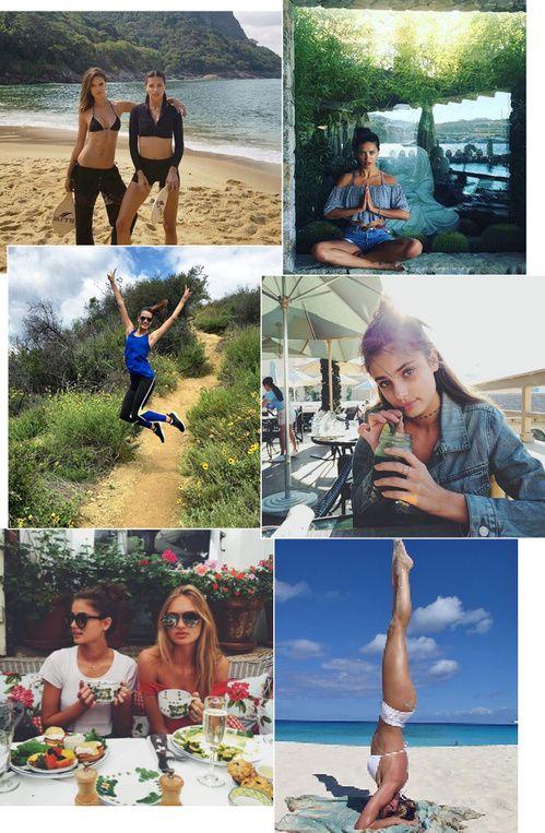 astuces sport nourriture régime mannequins victoria's secret : Taylor Hill, Alessandra Ambrosio, Adriana Lima, Candice Swanepoel