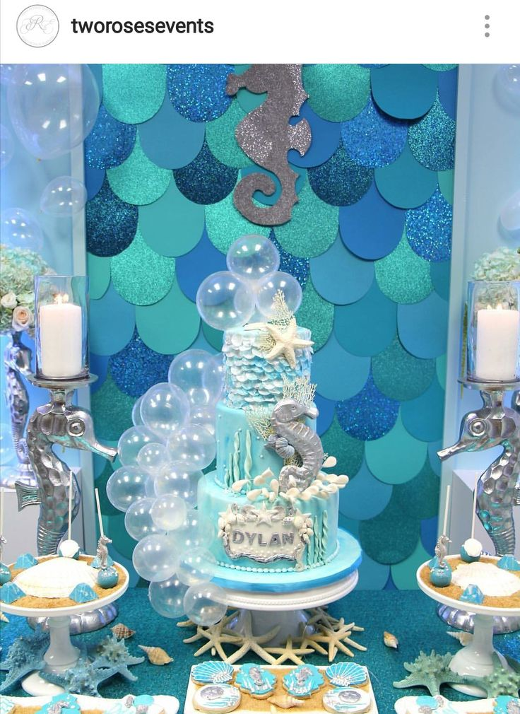 Under The Sea Baby Shower Dessert Table and Decor