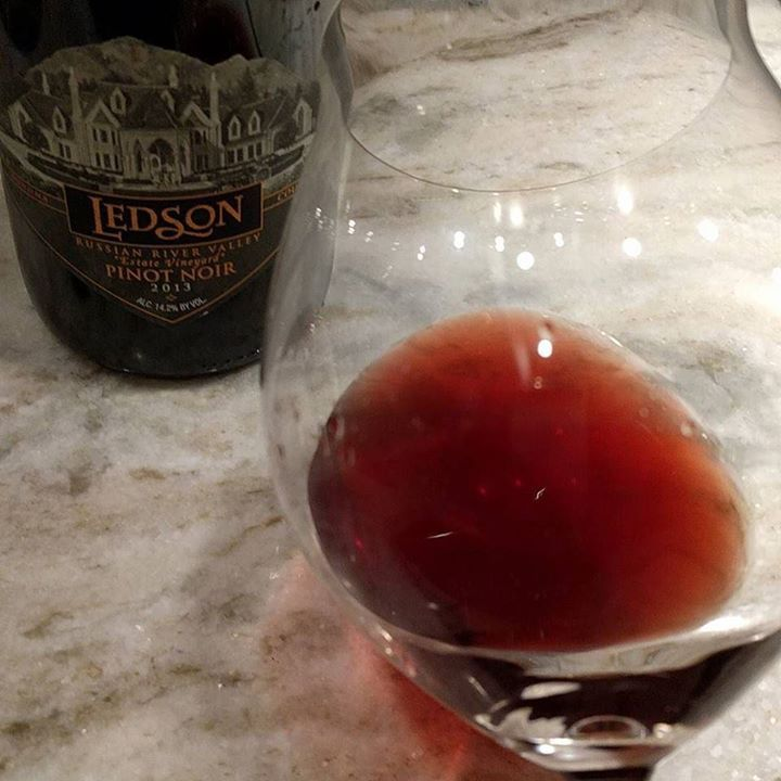 Ledon's 2013 Russian River Valley Pinot Noir. This one's been sitting in our cellar for over a year just waiting for some attention. This wine has a good mouth feel big bouquet of cherry and plum and light acidity. This would pair well with a broil or some hard cheese. http://ift.tt/2ANKNJo