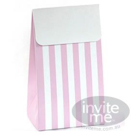 Treat bag with fold over - can be left plain or decorated with ribbon and personalised stickers/ tags.