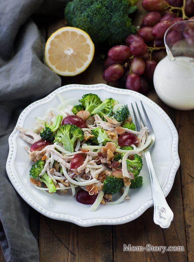 Очень вкусный салат с брокколи и курицей