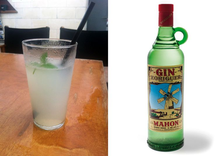 Menorcinsk gin og Pomada fra Xoriguier
