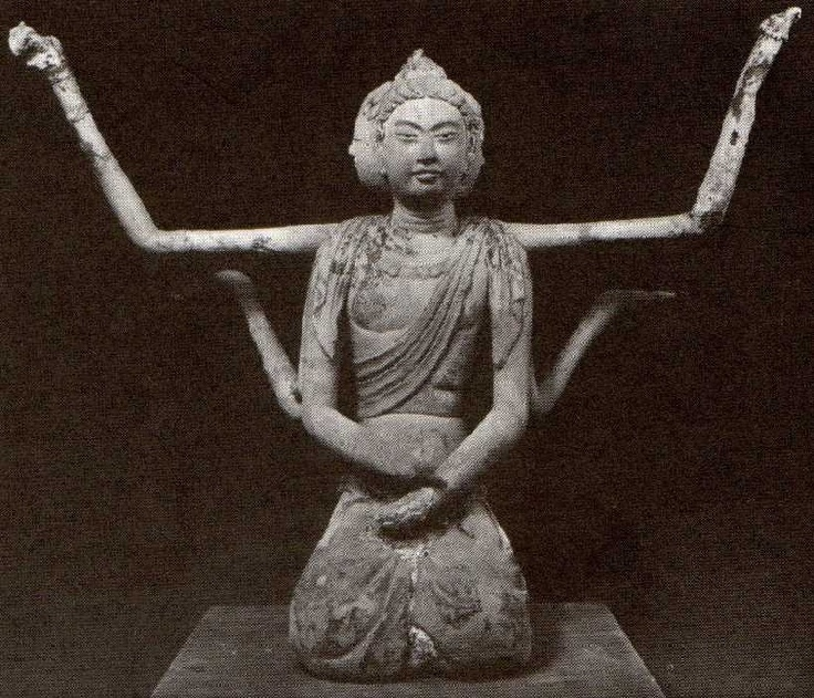 法隆寺 五重の塔内の阿修羅像
