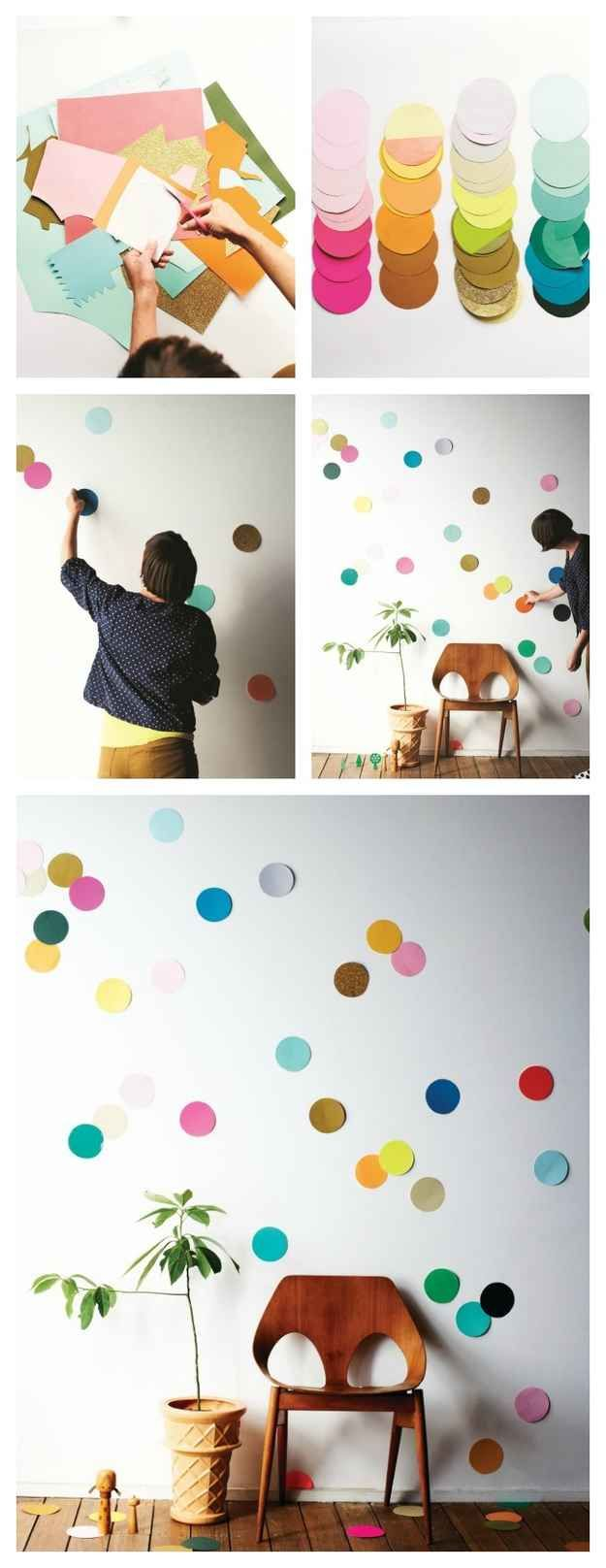 Wall | 26 Cute And Novel Ways To Use Confetti