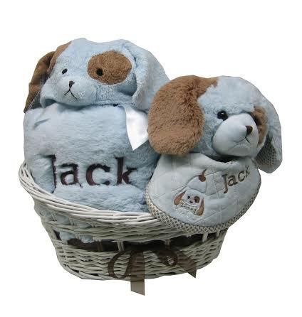39 best corporate baby gifts images on pinterest baby gifts babys baby gift basket personalized puppy dog negle Image collections