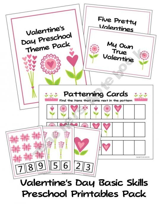 valentine 39 s day preschool basic skills printable pack we all live in a yellow submarine. Black Bedroom Furniture Sets. Home Design Ideas