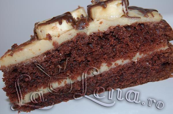 Tort cu ciocolata si budinca de vanilie (de post)