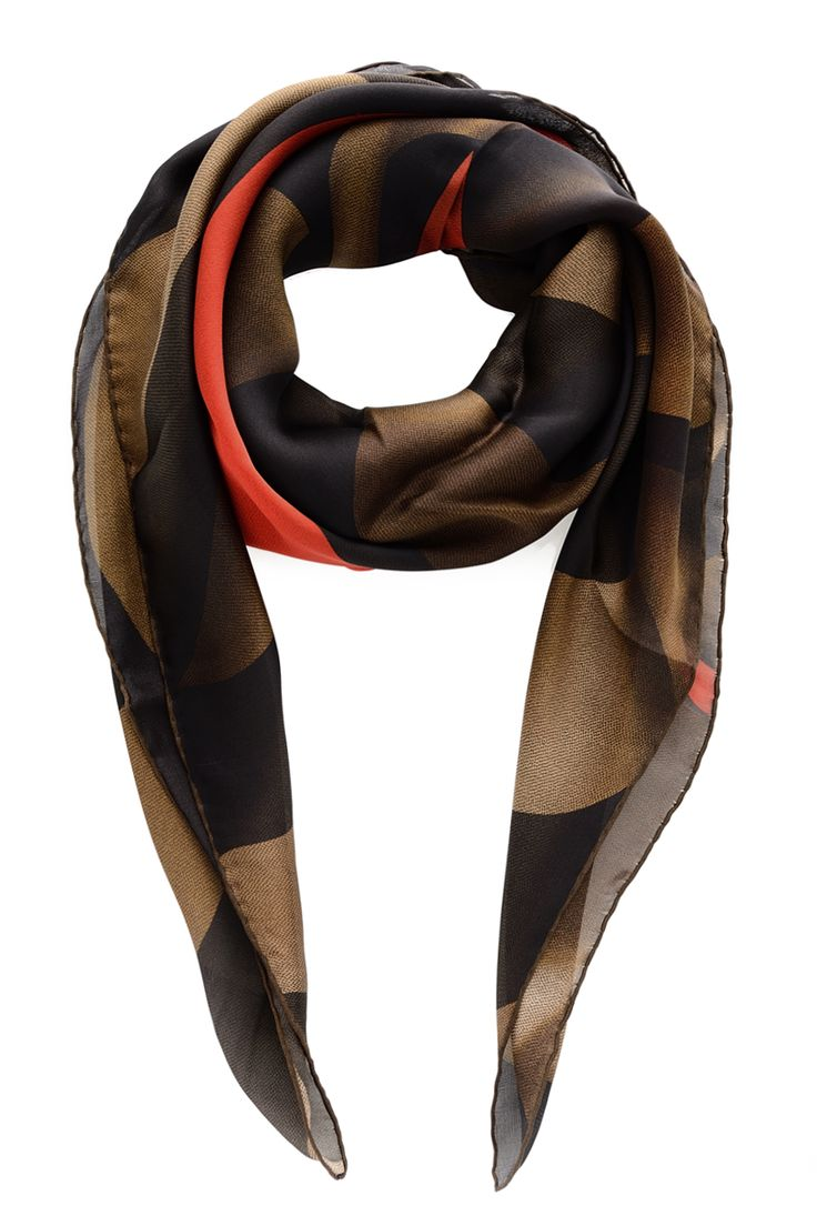 stripe Fendi print scarf - Red Fendi gmaZYCh