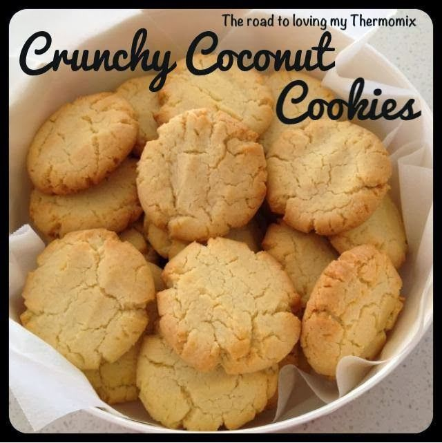 The road to loving my Thermomix: Crunchy Coconut Cookies