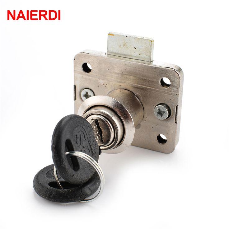 Merk NAIERDI Hardware 101 Iron Ladeblokkering Meubilair Bureau Kast Locker Lock 16mm Lock Core 22 Dikte Met Twee toetsen