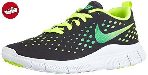 Nike Free Express, Unisex-Kinder Sneakers, Schwarz (Black/Light Green Spark-Volt-White), 38 EU (5 Kinder UK) - Nike schuhe (*Partner-Link)