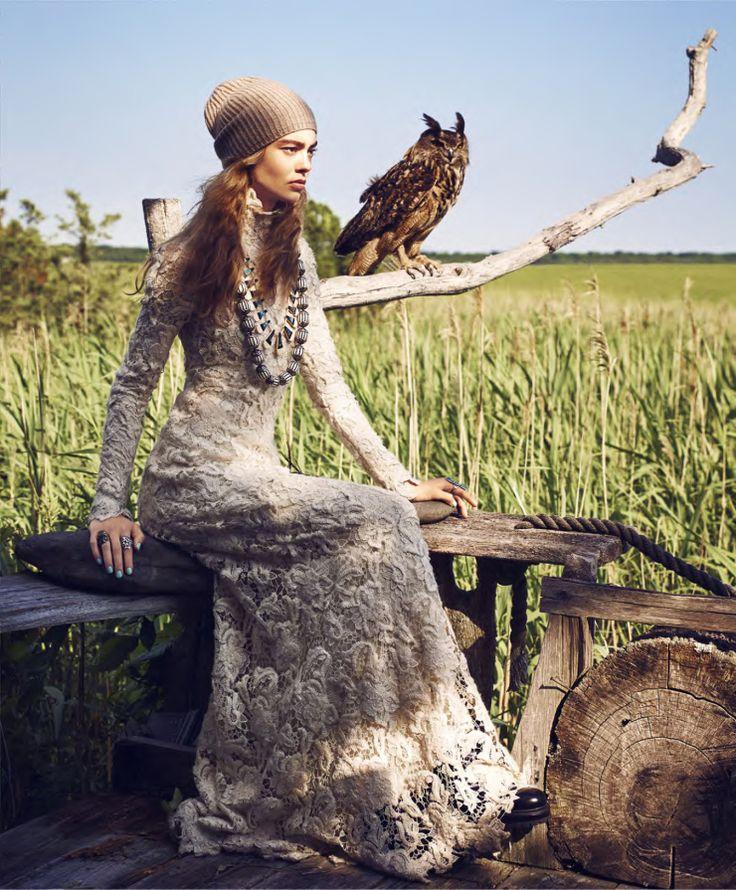 Ondria Hardin by Nathaniel Goldberg for Harper's Bazaar US September 2015