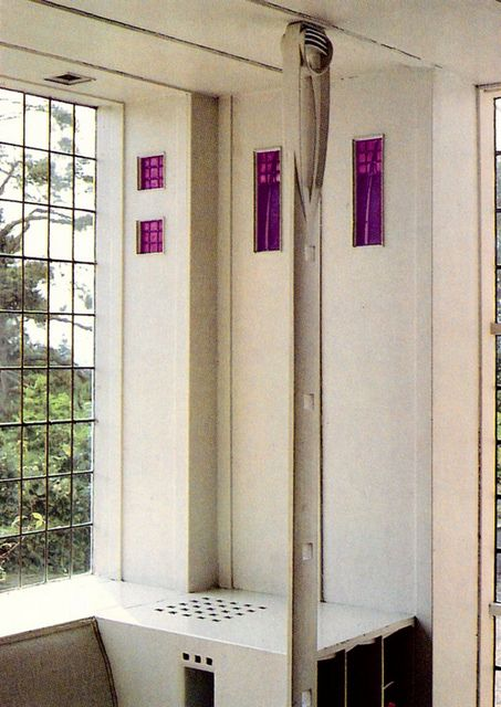 Detail from Hill House by Charles Rennie Mackintosh. - been there, one of the highligts of my life...sad really!!!