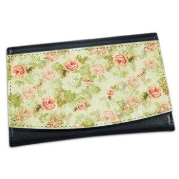 Peach Floral Mini Wallet