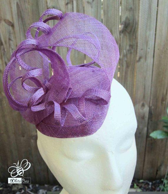 Purple Sinamany Fascinator by WhiteBea on Etsy, $53.00