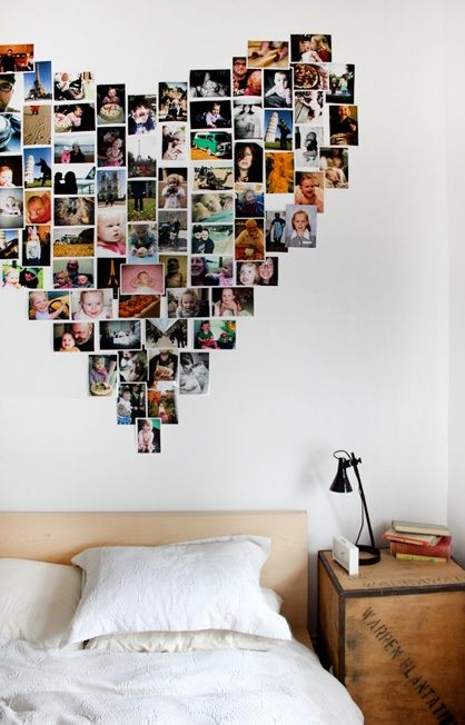 heart picture wall<><><> I'm going  to try and do this but I would need three walls because I want to do one of with just horses,and then one with One Direction and family, and also one with Lorde