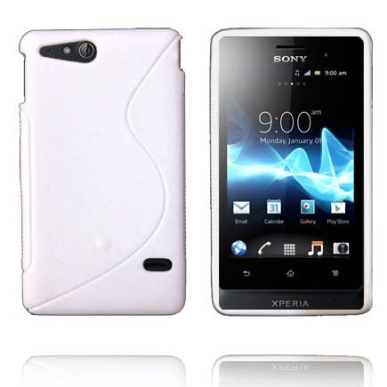 Solid S-Line (Hvit) Sony Xperia Go Deksel