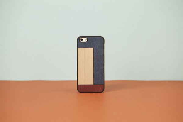 Wood'd Cover iPhone - Tetris Blue -