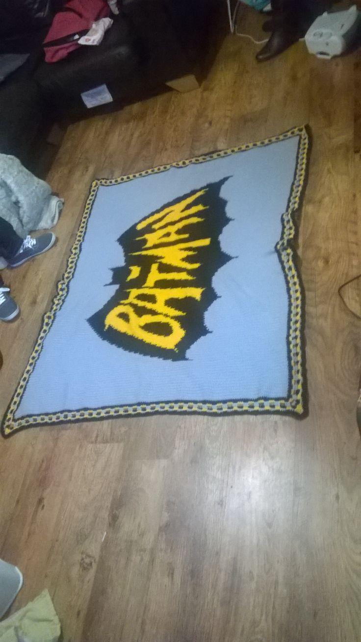 Crochet Batman Blanket                                                                                                                                                      More