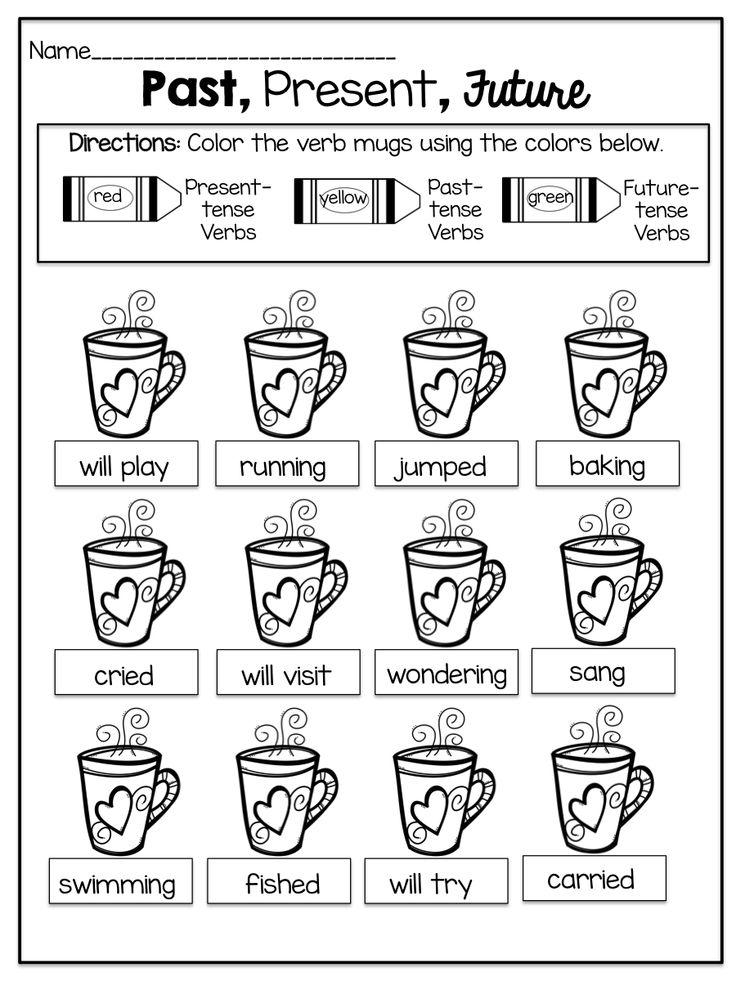 Printables One Thousand Sentence Of Simple Present Tense 1000 images about first grade activities on pinterest cut and past present future tense verbs