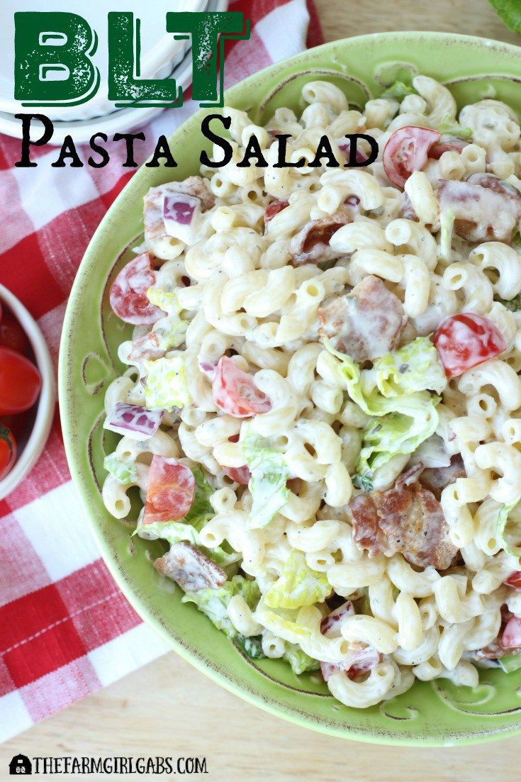 Everything is better with bacon! It's picnic season and this BLT Pasta Salad is the perfect easy recipe! AD SeeTheLight