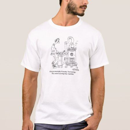 Wood Burning Key Machine T-Shirt - tap to personalize and get yours