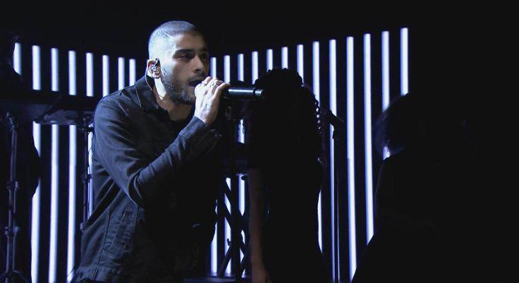 Zayn Malik performs on The Tonight Show  #zaynmalik #zayn #ennoir #jacket #diesel #boots #thetonightshow #jimmyfallon #newyork