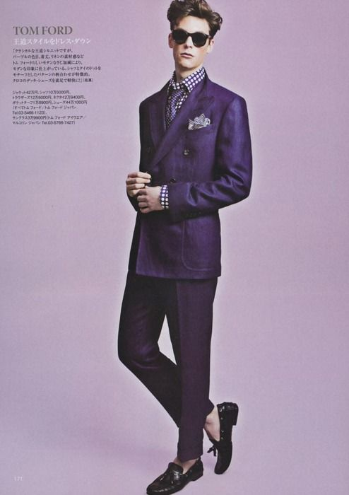 purple double-breasted suit by tom ford   clothes.   Pinterest ...