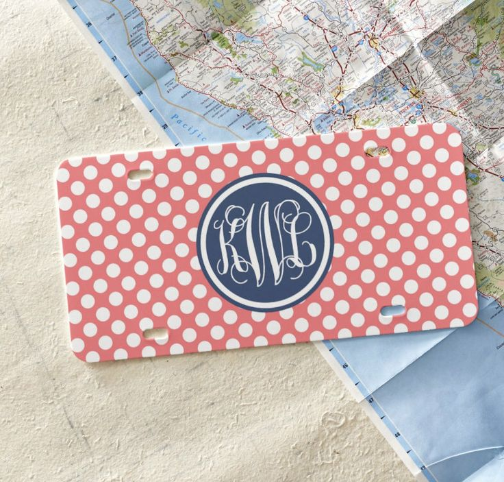 Personalized License Plate, Monogram Car Tag, Teen Gift, Sweet 16 gift, Custom Front License Plate, Gift Idea by LoveyDoveyCreations on Etsy https://www.etsy.com/listing/253085000/personalized-license-plate-monogram-car
