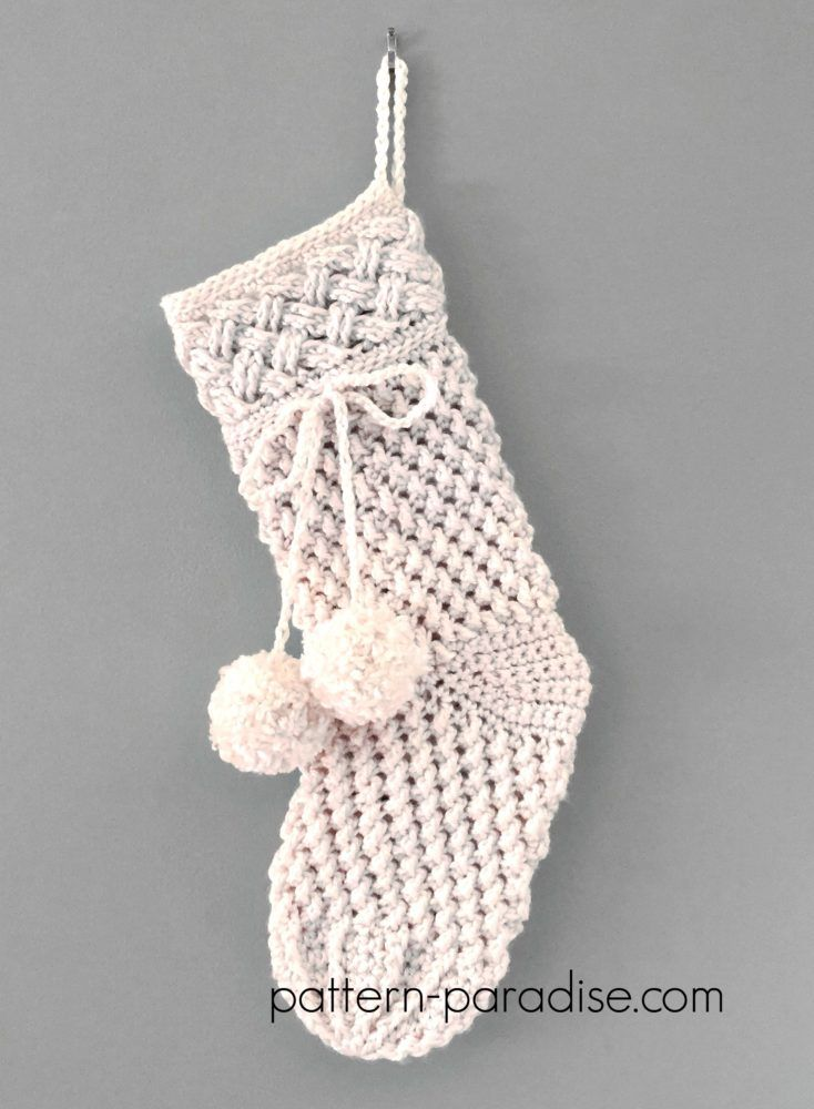 Crochet Pattern: Ivory Snow Stocking
