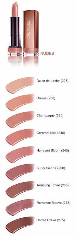 CoverGirl Colorlicious Lipstick has deliciously rich color infused with shea butter. Four indulgent color families: pink, red, plum and nude..