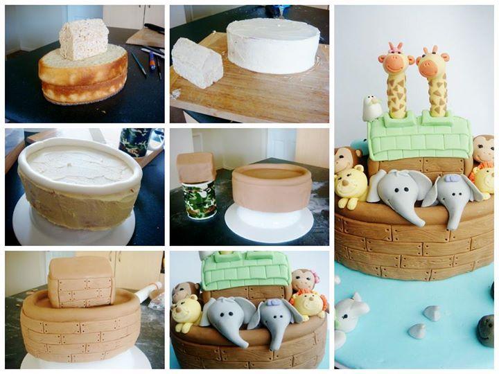 http://www.lydiabakes.com/2011/11/noahs-ark-baby-shower-cake.html
