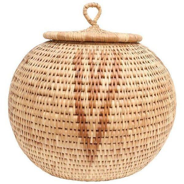 African Baskets: Over-sized African Hand-Woven Zulu Herb Basket (275 CAD