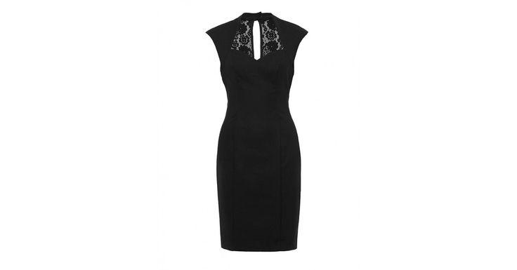 Dita Dress, Black. Sweetheart neck edge & peek-a-boo cut out lace back detail. Bit sexy!