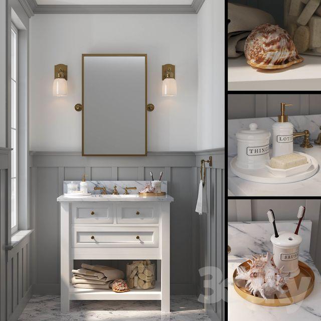 3d Models Bathroom Furniture Pottery Barn Classic Single Sink Vanity Single Sink Vanity Vanity Sink Single Sink