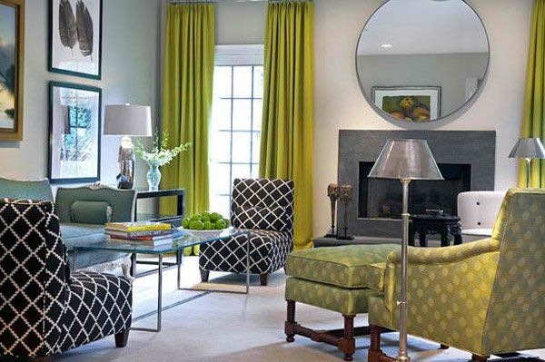 green long drapes