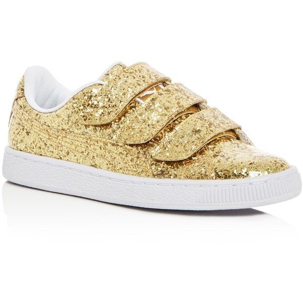 ff6ca9ccc2f1 Puma Women s Basket Glitter Sneakers (255 BRL) ❤ liked on Polyvore  featuring shoes