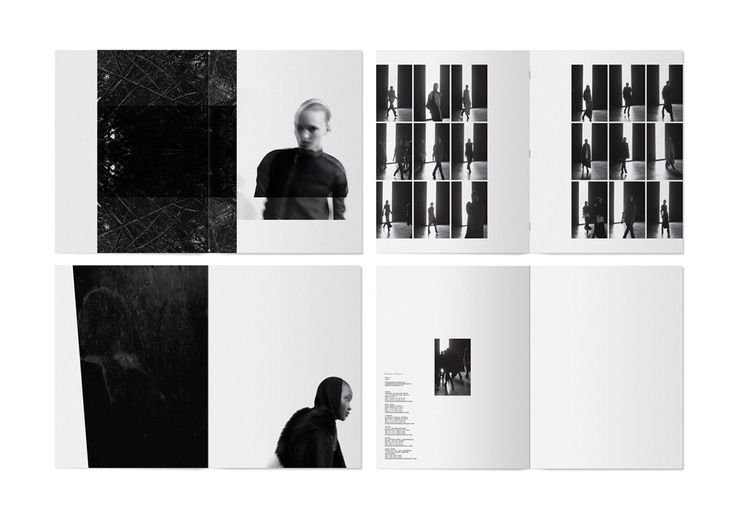 I love the placement in this lookbook. The pages aren't full which makes the pages look crisp and easy to read and understand. It also helps that it's in monochrome. Placement of imagery and text is a feature I would like to experiment with.