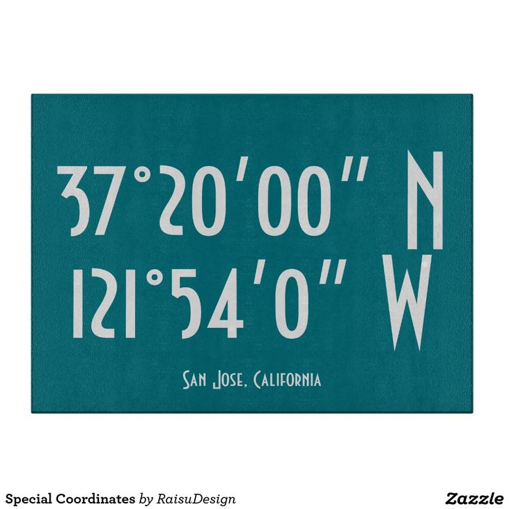 Special Coordinates Cutting Boards