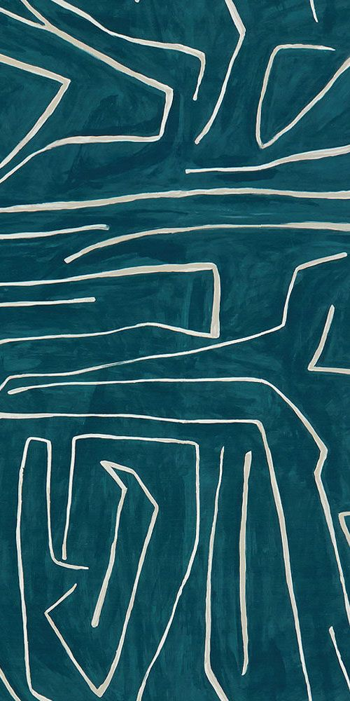 KELLY WEARSTLER | GRAFFITO FABRIC. In Teal/Pearl