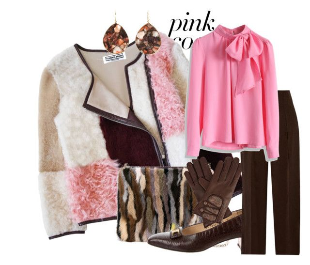 Furry Patterned Pink Coat