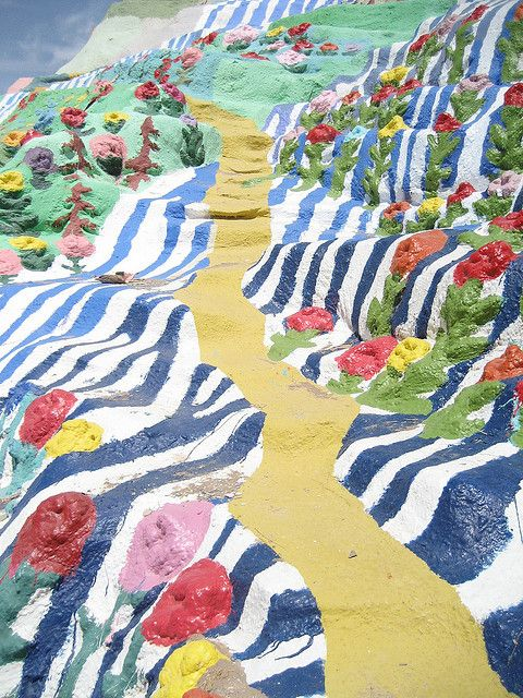 """Salvation Mountain - The Yellow """"Brick"""" Road by kevinkimmett on Flickr"""