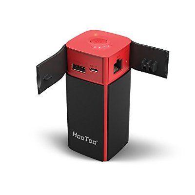 HooToo Lecteur de Disque Dur, Routeur Sans fil portable, NAS, 10400mAh, Batterie Externe, Point d'access- TripMate Titan