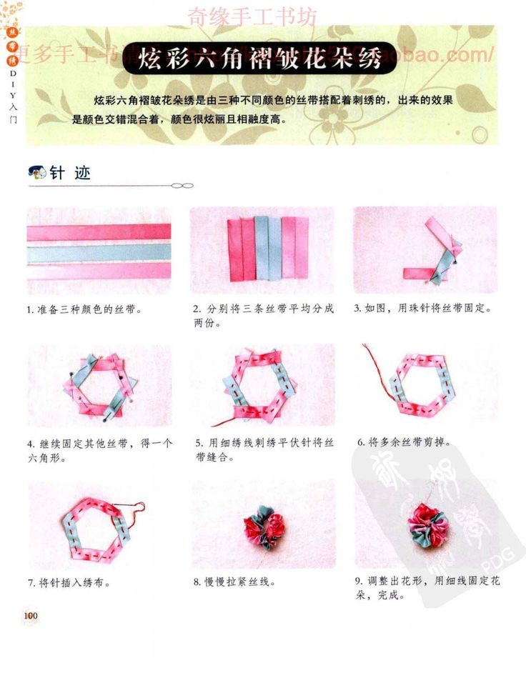 Ribbon embroidery patterns tutorial makaroka