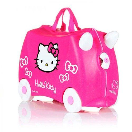 Maleta Trunki Hello Kitty 59,95 €. Original maleta de Hello Kitty. Creada para que los niños jueguen con su maleta correpasillos. Incluye un pack de pegatinas para personalizar la maleta.