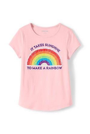 93439a3ef8a3 Girls' Dipped Hem T-shirt With Flip Sequin Motif | GIRL SPRING 20 ...